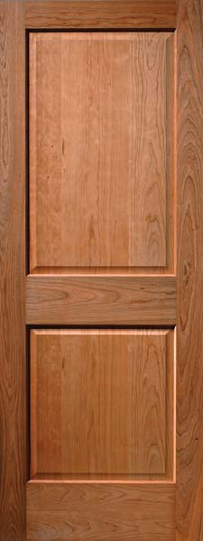 Cherry 2 Panel Craftsman Raised Panel Door