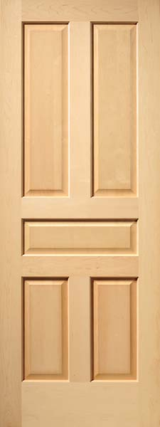 Maple 5 Panel Craftsman Raised Panel Door