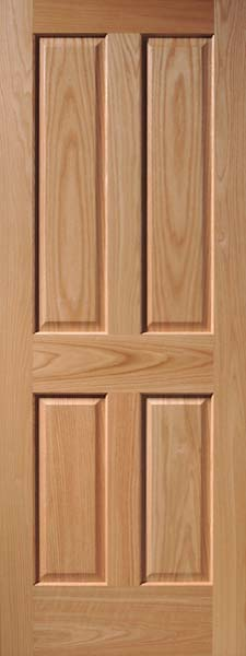 Oak 4-Panel Craftsman Raised Panel Door & Raised Panel Interior Wood Doors | Craftsman Series