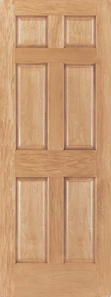 Oak 6 Panel Craftsman Raised Panel Door