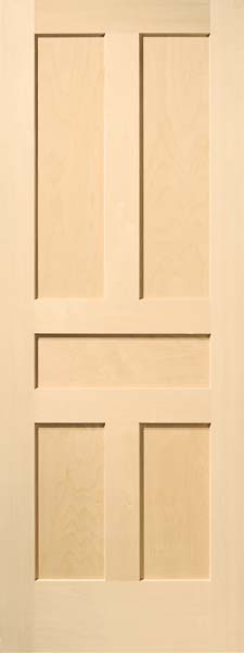 5 Panel Traditional Birch Door
