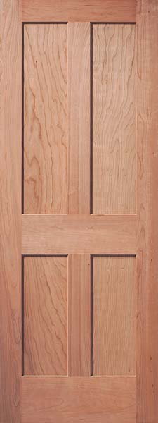 4-Panel Traditional Cherry Door & Interior Flat Panel Doors | Mission Style Doors | Interior Wood Doors