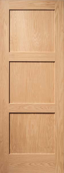 3 Panel Contemporary Oak Door