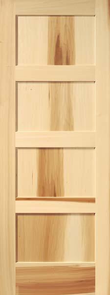 4-Panel Contemporary Tulip Poplar Door  sc 1 st  Custom Interior Wood Doors & Interior Flat Panel Doors | Mission Style Doors | Interior Wood Doors
