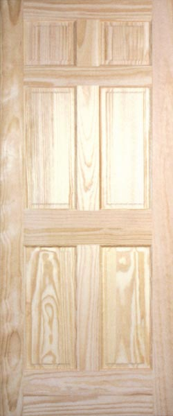 Pine Raised Panel Interior Doors Clear And Knotty Pine