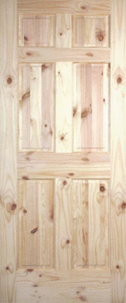 Pine Raised Panel Interior Doors Clear And Knotty Pine Interior Doors