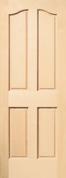 Interior raised panel doors interior wood doors heritage series 4 panel eyebrow birch door planetlyrics Gallery