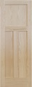Red Oak Flat 3 Panel Door