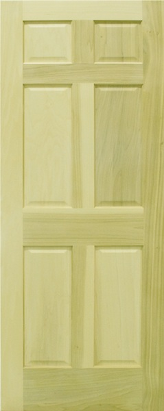 Poplar Raised 6 Panel Door & Stock Doors - 6 Panel Doors 3 Panel Doors and 2 Panel Doors pezcame.com