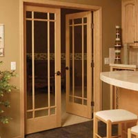 Indoor French Doors. Single And Double Glass Panel Interior Doors