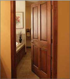 Unfinished prehung doors birch pine alder oak and more for All wood interior doors